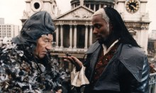Trevor Peacock as Old Bailey and Paterson Joseph as the Marquis de Carabas in Neverwhere.