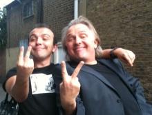 Chris Wade and Rik Mayall