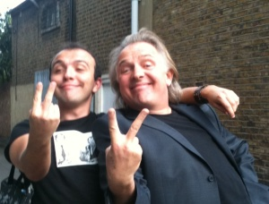Chris Wade and Rik Mayall