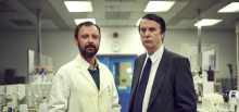 John Simm (left) and David Threlfall (right) in Code of a Killer