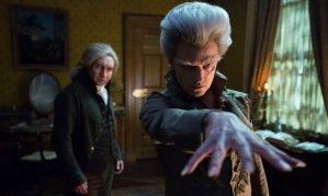 Programme Name: Jonathan Strange & Mr Norrell - TX: n/a - Episode: Ep1 (No. 1) - Picture Shows: (L-R) Mr Norrell (EDDIE MARSAN), The Gentleman (MARC WARREN) - (C) JSMN Ltd - Photographer: Matt Squire