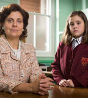 Rebecca Front as Miss Dyson in Little Cracker