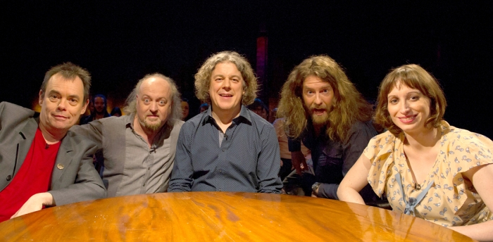 Alan Davies: As Yet Untitled - Episode 4 - Picture shows (L-R) Kevin Eldon, Bill Bailey, Alan Davies, Craig Campbell and Isy Suttie